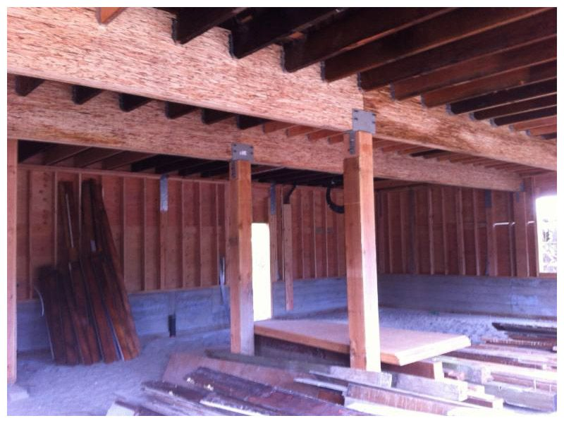 new lvl main floor beams