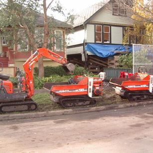 mini excavator and track carriers